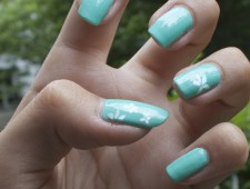 Nail Stamping – Blumenmuster